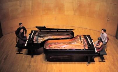 Internacional Duo Aurore faz apresentação gratuita de piano a quatro mãos em Goiânia