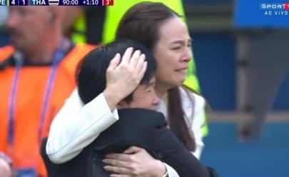 Após sofrer 17 gols seguidos na Copa do Mundo, Tailândia marca gol de honra e emociona torcida