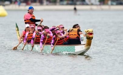 Equipe de canoagem feminina faz evento beneficente em Brasília