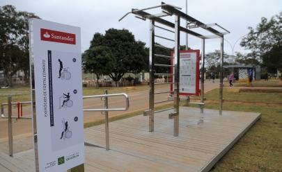Brasília inaugura estação de ginástica para deficientes no Parque da Cidade