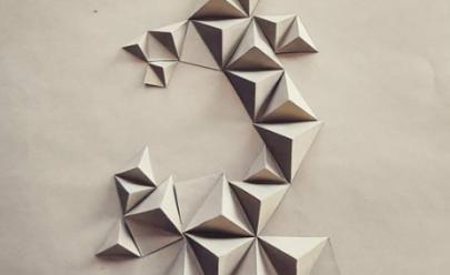 Artista goiano cria quadros com dobradura em papel