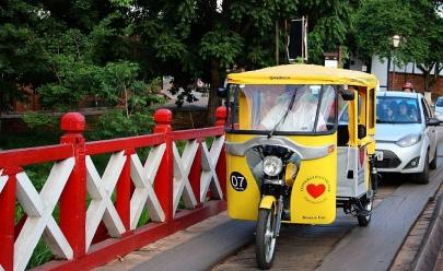 Tuc-tuc: transporte que caiu no gosto de moradores e turistas em Pirenópolis