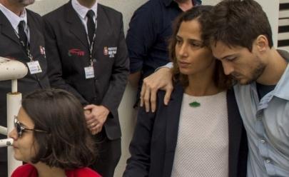 Camila Pitanga fala publicamente pela primeira após a morte de Domingos Montagner