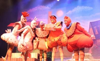 Teatro Goiânia recebe musical infantil 'A Fuga das Galinhas' neste domingo