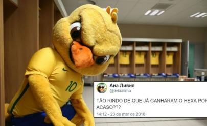 9 vezes em que o mascote da Seleção do Brasil nos representou