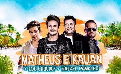 Deu Praia 2018 recebe Matheus e Kauan, Edu Chociay e Rafael Ramalho