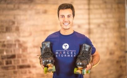 Tetracampeão Pan-americano Marcel Stürmer se apresenta com mais 50 patinadores em Goiânia