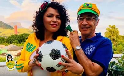 Paulo Betti e esposa 'causam' na Rússia em especial sobre a Copa
