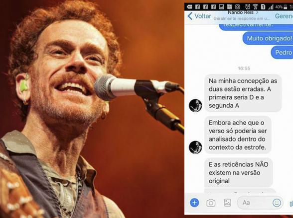 Consultado por concurseiro, Nando Reis diz que gabarito de questões sobre sua música está errado
